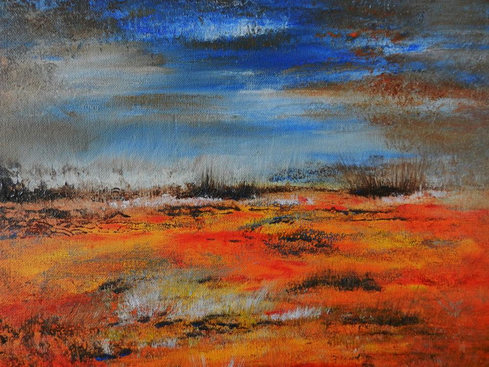 Artworks schilderij op de website.