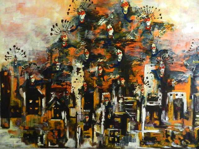 Olieverfschilderij: de apen van de planeet. Wie zijn ze eigenlijk?